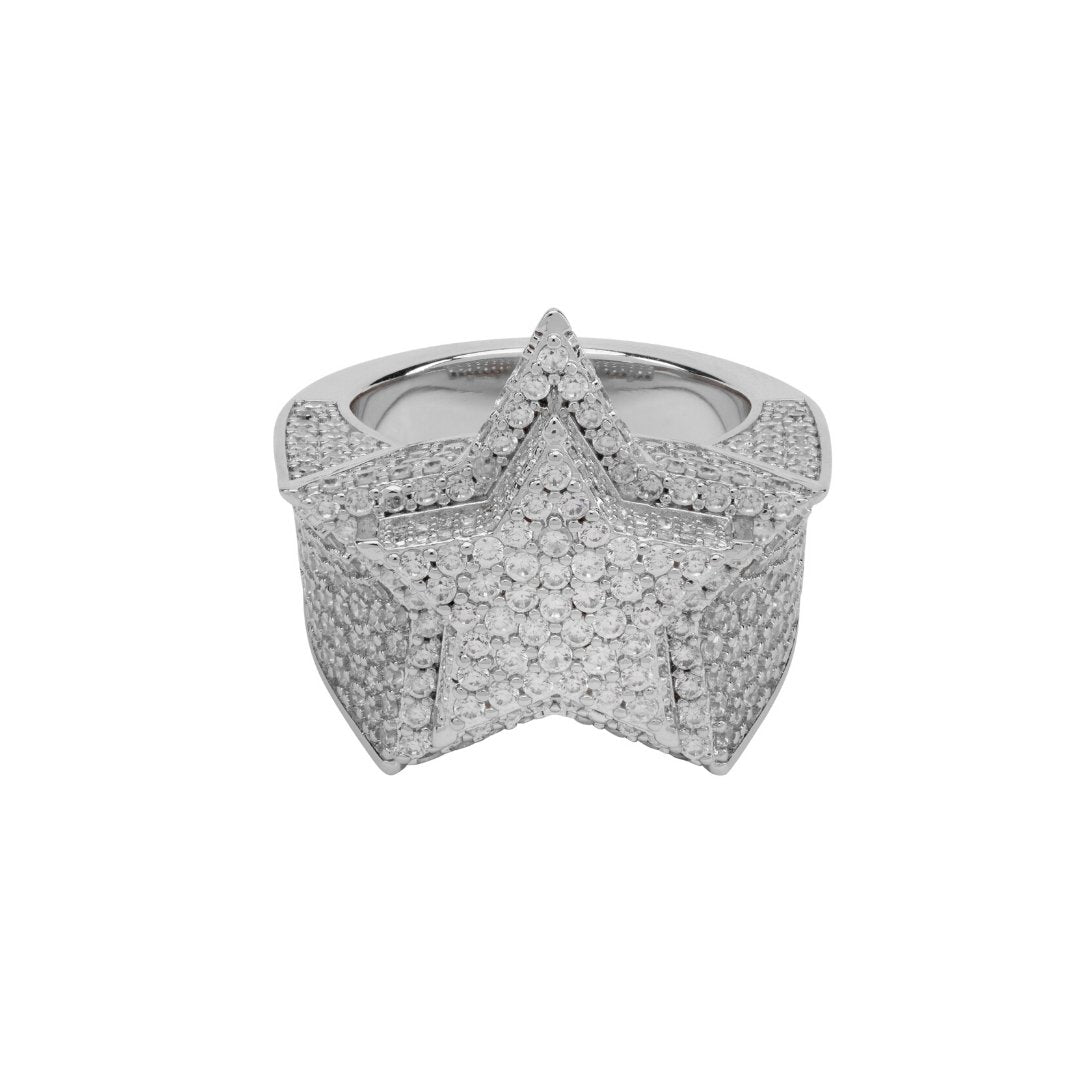 Diamond Star Ring - White Gold - IceTheGang