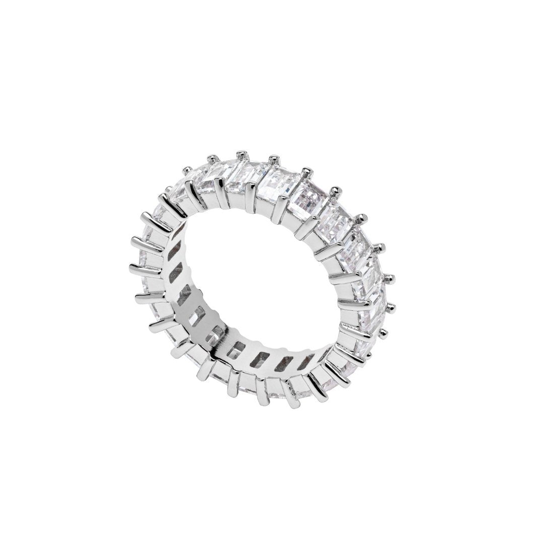 Baguette Ring - White Gold - IceTheGang
