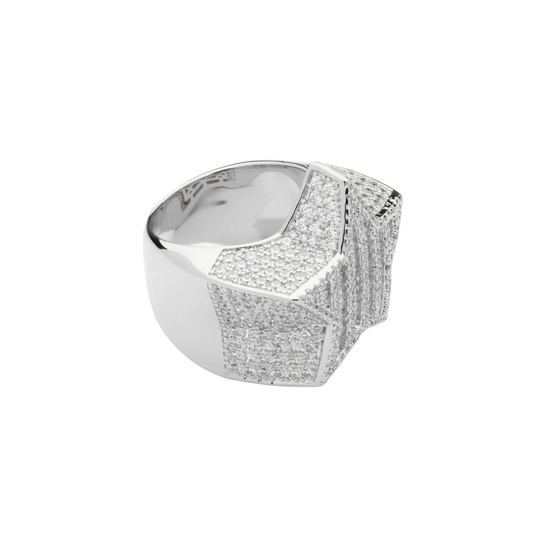 Baguette Star Ring - White Gold - IceTheGang