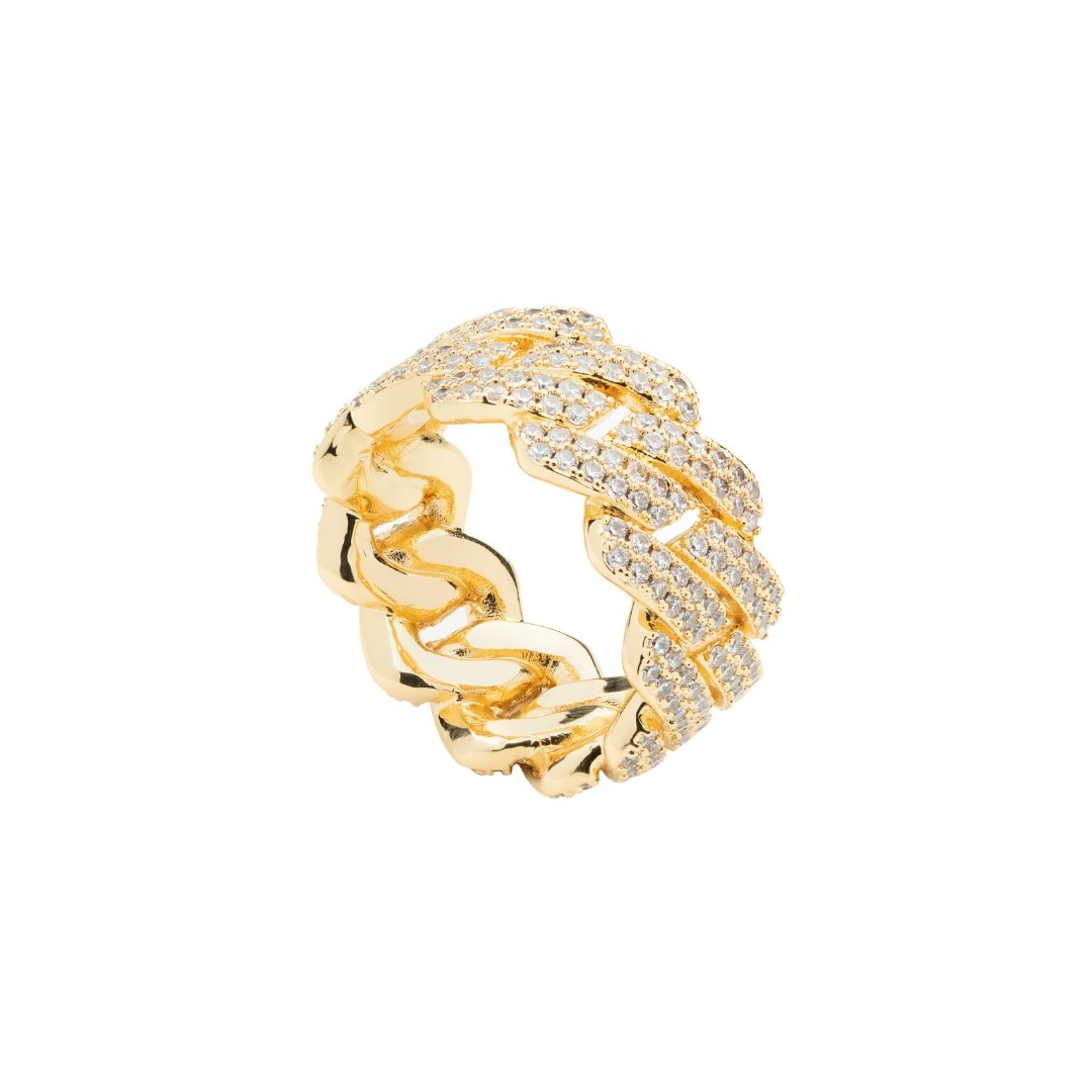 Prong Cuban Ring - Gold - IceTheGang