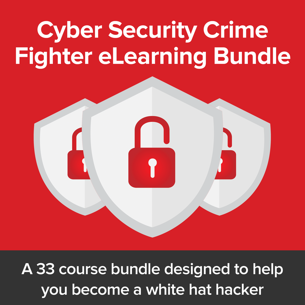 Cyber Security Crime Fighter Bundle - 95+ Hrs - Hacker Noob Tips
