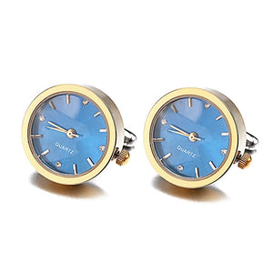 JIN&JU Men Jewelry New Arrive Men's Shirt Clock Design Jewelry Watch Cuff Link  Men Jewelry Wedding Groom Men Cuff Links