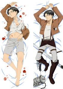 Attack On Titan Dakimakura Hugging Peach Skin Body Pillow