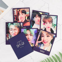 Official Kpop 7Pcs/Set Bts Bangtan Boys Fm 5Th Muster Collective Photocards Lomo Cards