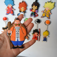 Dragon Ball Z Pvc Model Keychain Double Sides Silicone accessories