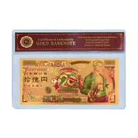 ONE PIECE Gold Foil Banknote 20th Aniversary accessories