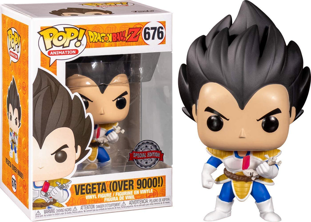 Funko Pop  Dragon Ball Z - Vegeta (Over 9000!) Pop! Figure