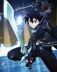 Sword Art Online Kirito Dark Repulsor Cosplay Foam Sword