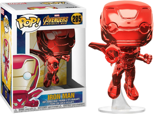 Funko Pop Avengers 3: Infinity War - Iron Man Flying Red Chrome Pop! Vinyl Figure (RS)