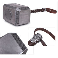 Marvel Avengers: 1:1 Thor Hammer Brushed Stainless Steel  Cosplay Weapon