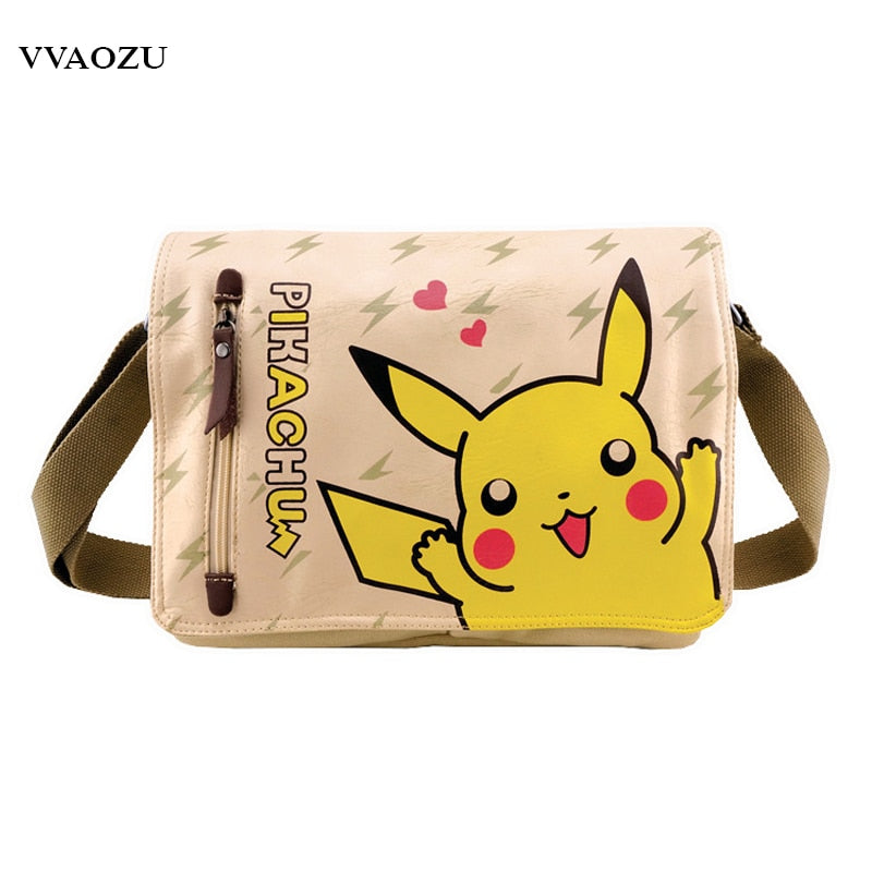 Pokémon Pikachu Messenger Shoulder Bag Pokemon Pikachu Crossbody Bags Schoolbag Bookbags