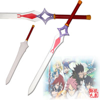 Sword Fairy Tail Erza Scarlet's Dual Blade Real Carbon Steel Metal