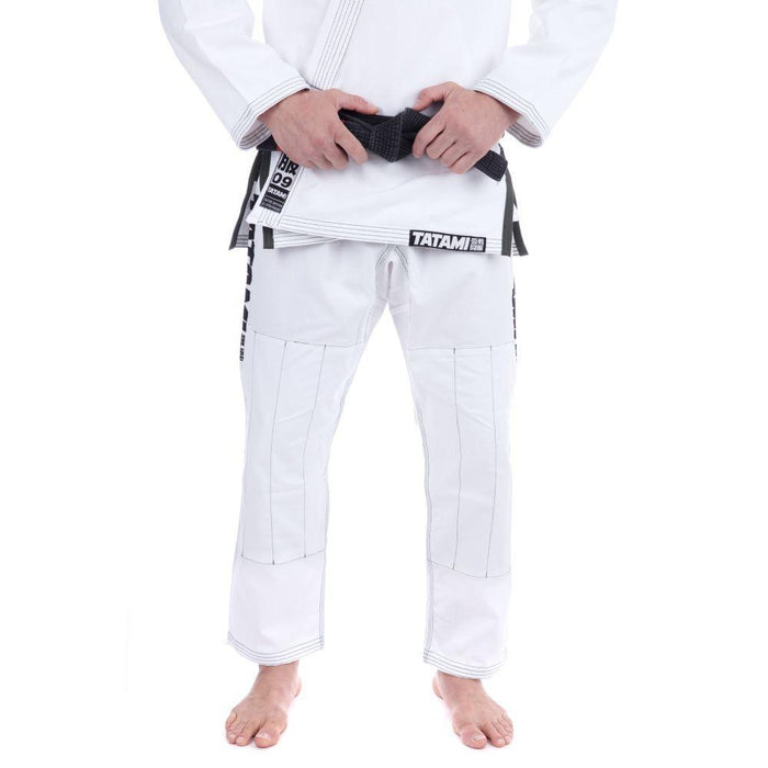 Tatami Essential BJJ Gi white front closeup pants