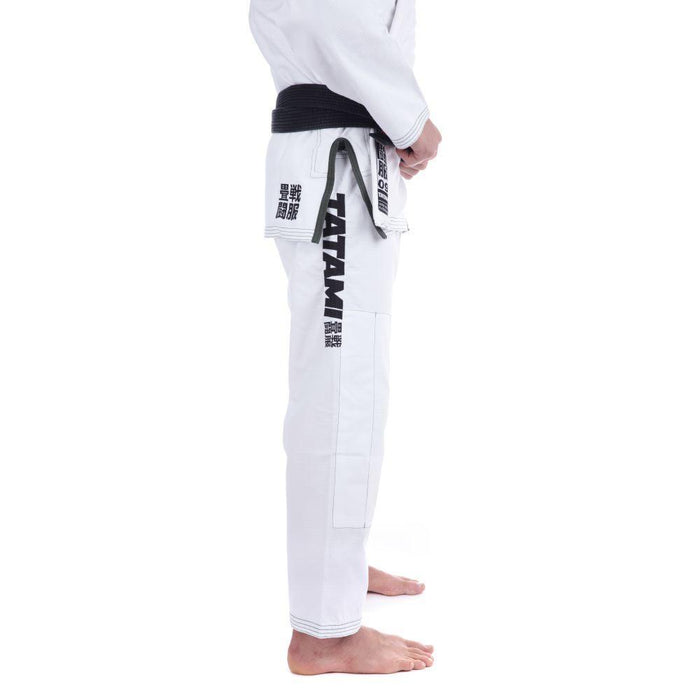 Tatami Essential BJJ Gi white closeup pants side right