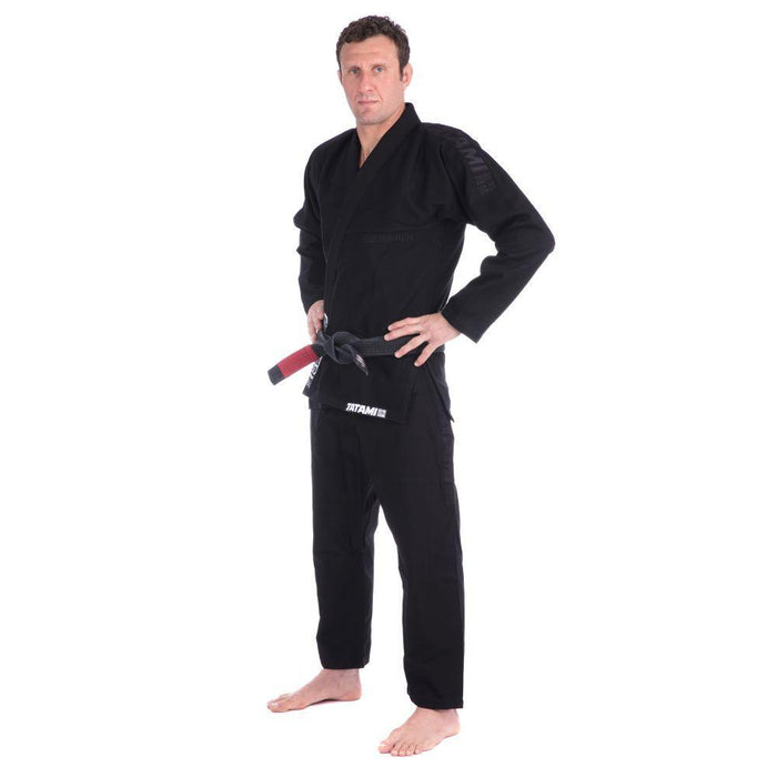 Tatami Essential BJJ Gi black front side left