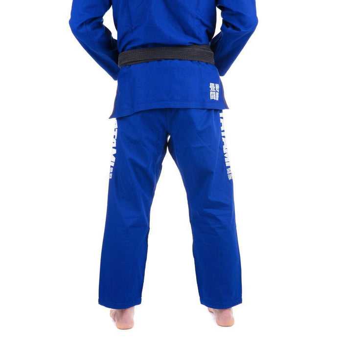 Tatami Essential BJJ Gi blue pants back closeup