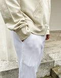 PLEATED TROUSER - SNOW