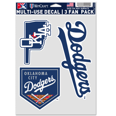 OKC Dodgers 3 Pack Decal