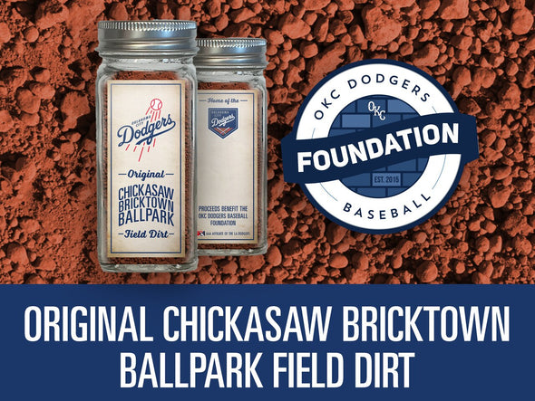 Original Chickasaw Bricktown Ballpark Field Dirt