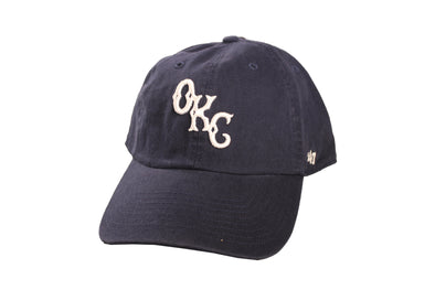 "Dodgers ""OKC"" Navy Clean Up"
