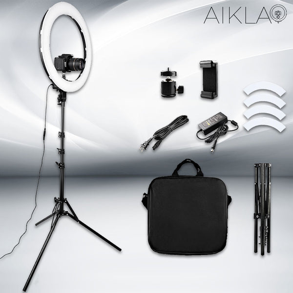 "18"" LED Ring Light - Diamond Irradiance II - Aikla 