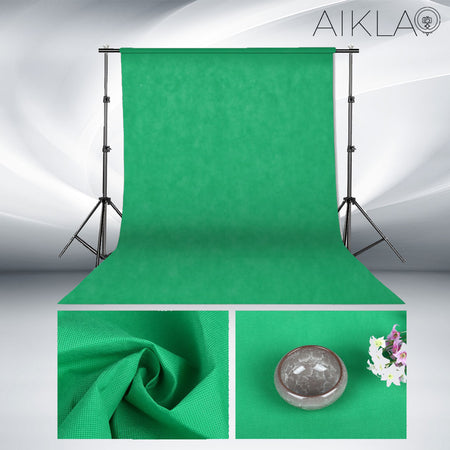 Fond vert en textile non-tissé - CHROMAKEY XL - Aikla | Ring Light & Softbox