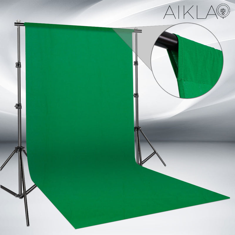 Fond vert en mousseline - CHROMAKEY XL - Aikla | Ring Light & Softbox