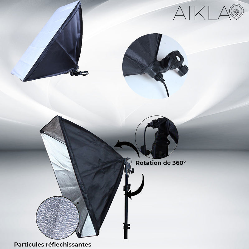 50x70cm Kit Softbox - Falcon M - Aikla | Ring Light & Softbox