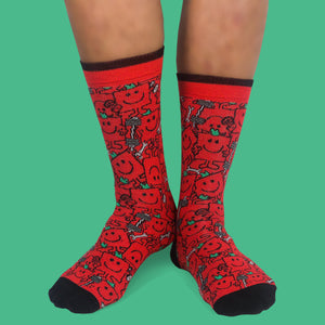 Mr Men Mr Strong 2pck socks