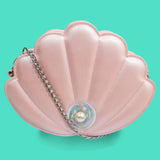 Youth Tonic! Pink Pearl Shell Cross Body Bag