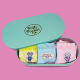 Ladies' Polly Pocket 3 pack organza frill sock in a box