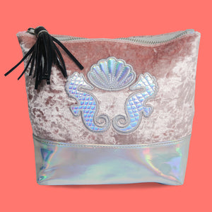 Youth Tonic! Coral Shimmer Make-Up Bag