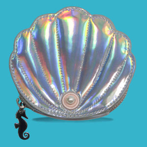 Youth Tonic! Silver Pearl Shell Coin Purse