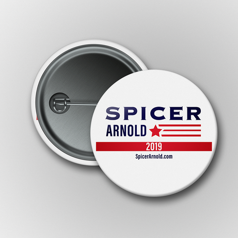 Spicer Arnold 2019 Buttons (Set of 2)