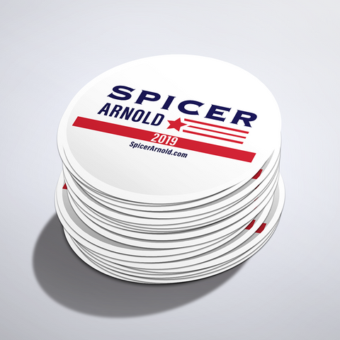 Spicer Arnold 2019 Lapel Stickers (Set of 9)