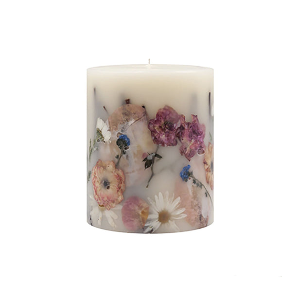 Apricot Rose Round Botanical Candle