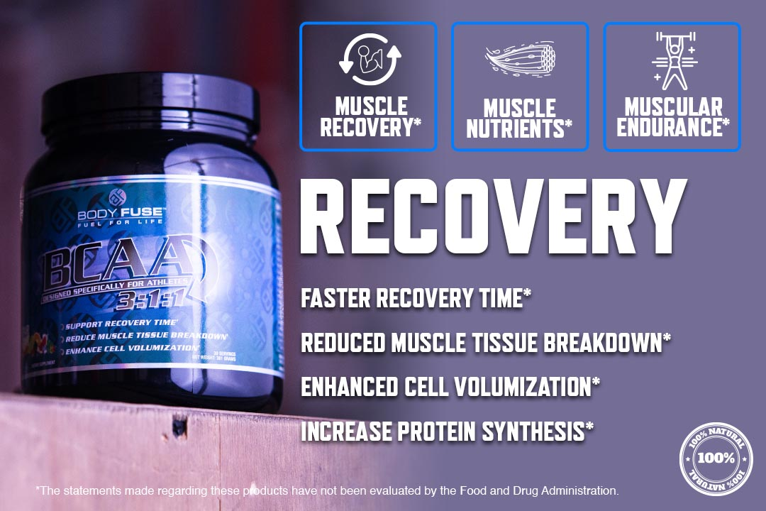 body fuse bcaa muscle recovery supplement graphic