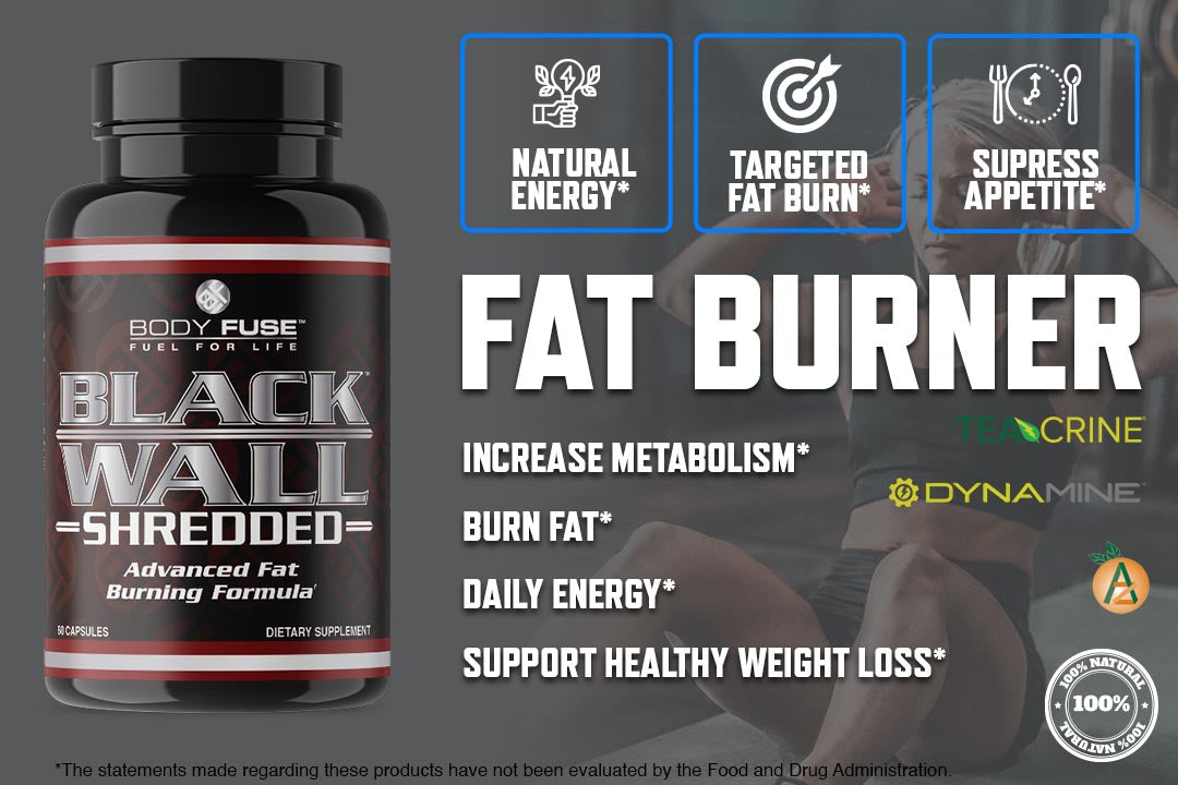 fat burner black wall body fuse graphic banner