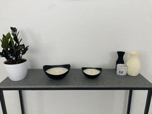 Heart & Home Matte Black Bowls