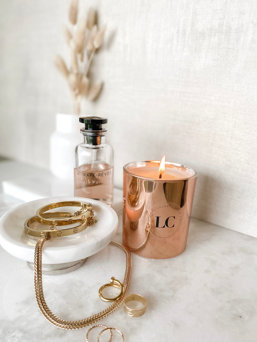 Rose Gold Soy Candle