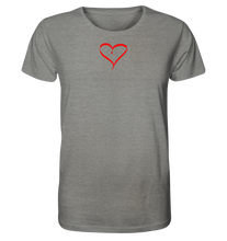 Laden Sie das Bild in den Galerie-Viewer, #heart - Organic Shirt (meliert) - litasfuck_store