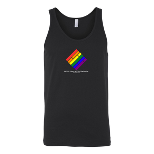 Pride Diamond Unisex Tank - Black w/White text