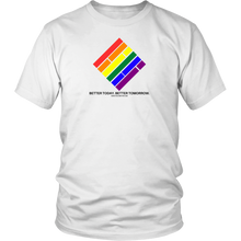 Load image into Gallery viewer, Pride Diamond T-Shirt - White w/Black text