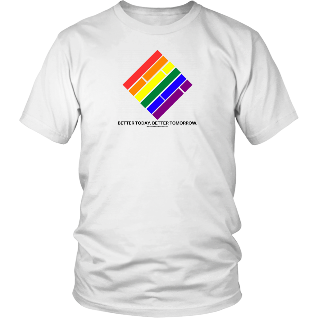 Pride Diamond T-Shirt - White w/Black text