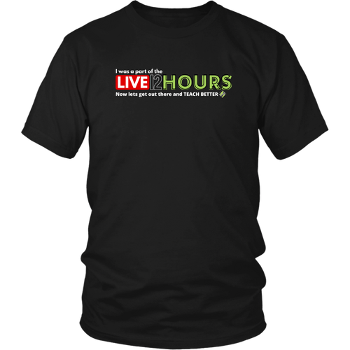 *LIMITED EDITION* 12 Hours Live Shirt (multiple dark colors available)