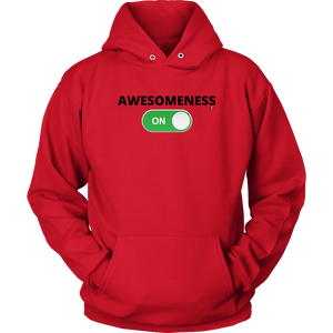 """AWESOMENESS: ON"" Unisex Hoodie (Multiple Color Options)"