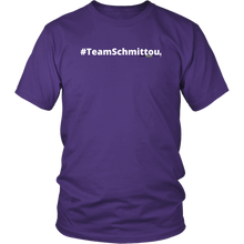Load image into Gallery viewer, #TeamSchmittou unisex t-shirt w/white text (Multiple color options)