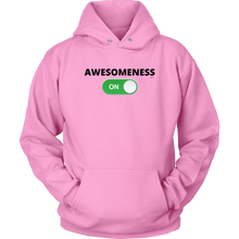 "Load image into Gallery viewer, ""AWESOMENESS: ON"" Unisex Hoodie (Multiple Color Options)"