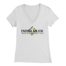 Load image into Gallery viewer, Enseña Mejor Women's V-Neck