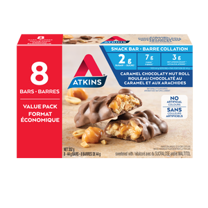Atkins Caramel Chocolaty Nut Roll Snack Bar VALUE PACK